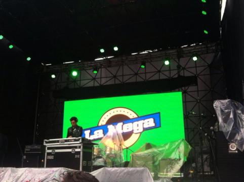 @PIPE_RIVERA  ya esta en el millenials stage con buena musica  @LaMegaBogota #ClubMediaFestColombia